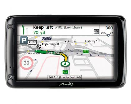 Mio 685 navigation screen