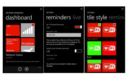 Network dashboard WP7
