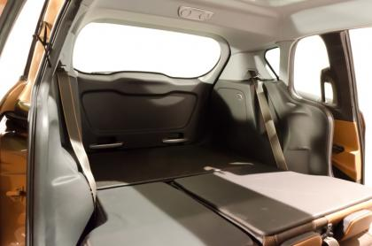 Ford B-Max boot with seats folded flat