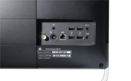 HP TouchSmart 520-1030uk back panel ports