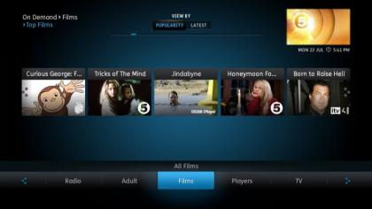 YouView browse Films