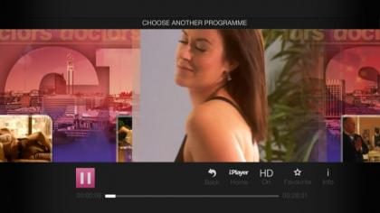 YouView BBC iPlayer programme playing