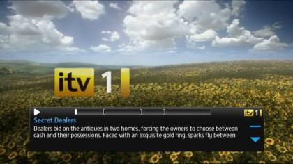 YouView ITV programme playing