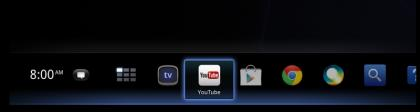 Google TV interface