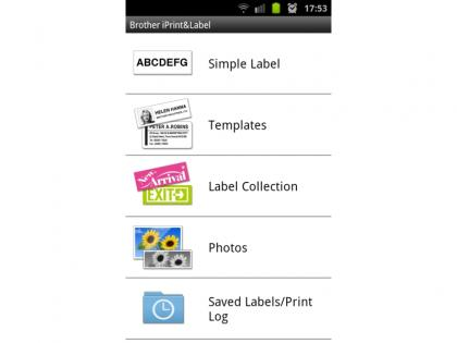 Brother QL-710W app templates