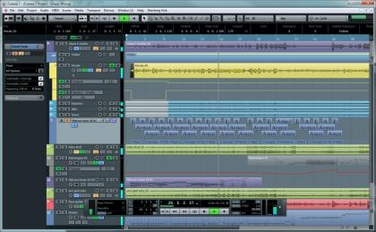 Steinberg Cubase 7 Main Screen