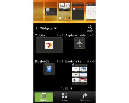 HTC Desire X add widget