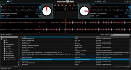 Serato DJ Intro Screenshot