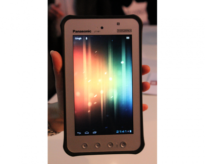 Toughpad JT-B1 held in one hand