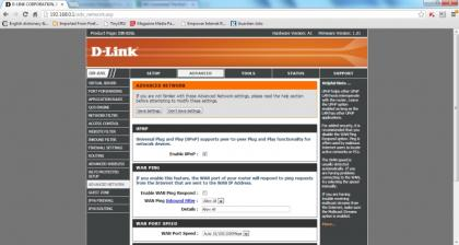 D-Link DIR-826L Web Interface