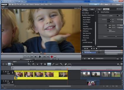 Magix Movie Edit Pro 2013 Skin Touch Up Effect