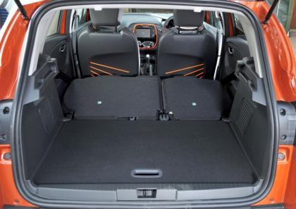 Renault Captur Boot - Rear Seats Down