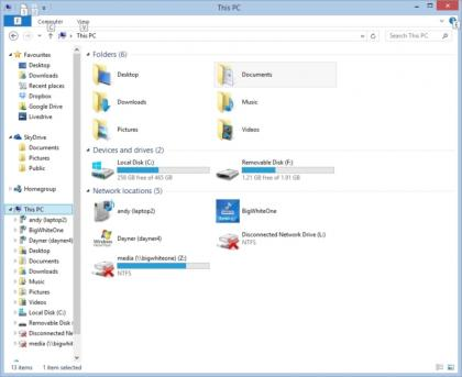 Windows 8.1 file manager