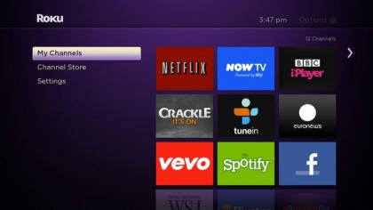 Roku 3 My Channels Screen