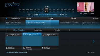 BT YouView+ More Episodes