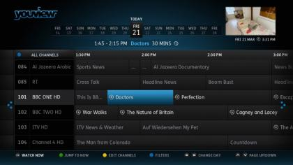 BT YouView+ EPG