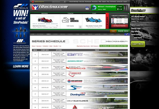 how to change interface iracing