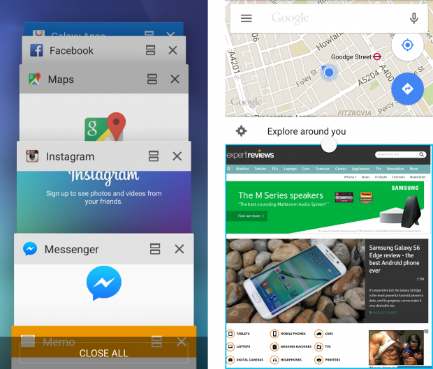 Samsung Galaxy S6 Android TouchWiz multiscreen