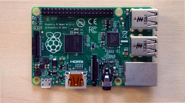 Raspberry Pi B+ top-down