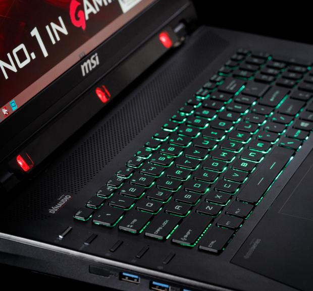 MSI Tobii Laptop keyboard and eye tracker