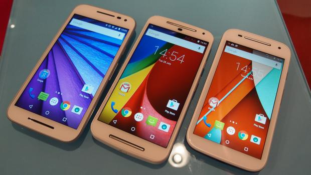 New Moto G 2015 with Moto G 2nd Gen and Moto E