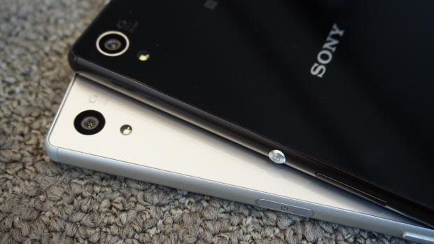 Sony Xperia Z5 hands on vs Sony Xperia Z3+ power button