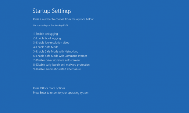 windows 10 how to get into settings from boot sfc