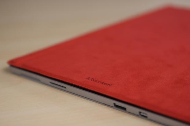 The soft-touch cover on the Surface Pro 4