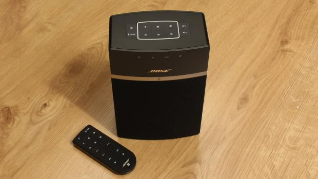 bose soundtouch 10. the soundtouch 10 is smallest speaker in range, only being a fraction larger than sonos play:1 or raumfeld one s. it\u0027s available either black bose soundtouch c