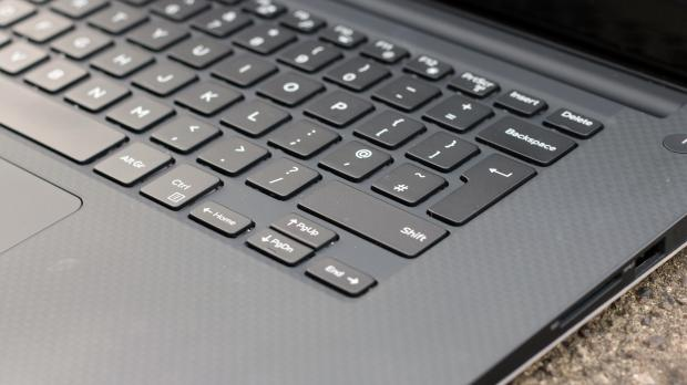 Dell XPS 15 (Late 2015) keyboard closeup