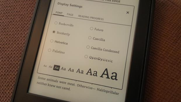 Kindle new interface fonts