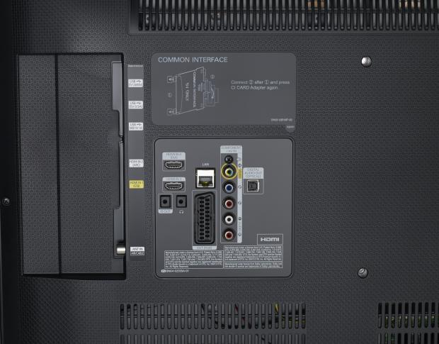 Samsung UE40H6400 rear and ports