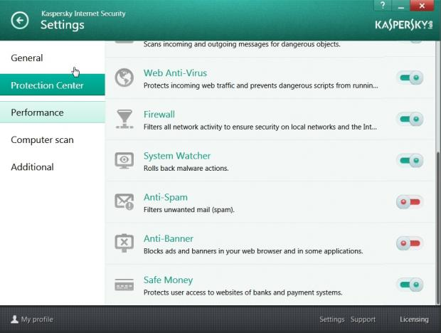 Kaspersky's interface is friendly and easy to use
