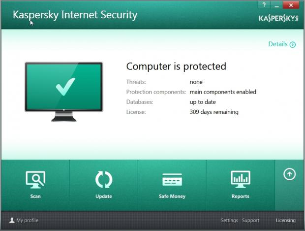 Kaspersky leaves you under no false impressions that your PC is secure