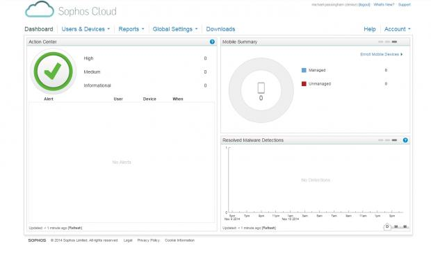 You can keep track of every security event that takes place on your network with Sophos Cloud