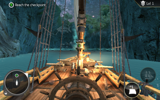 Screenshot of Assassin's Creed Pirates on the Galaxy Tab4 8