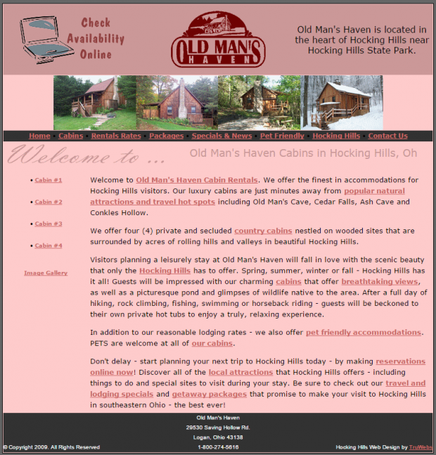 Old man's haven website