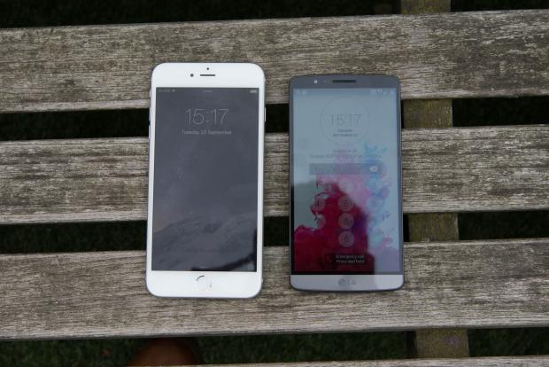 iPhone 6 Plus vs LG G3 side by side