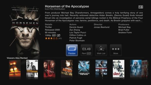 Apple TV movie from iTunes