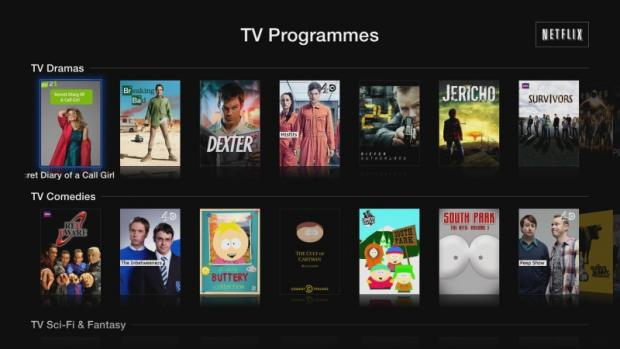 Apple TV Netflix TV programmes
