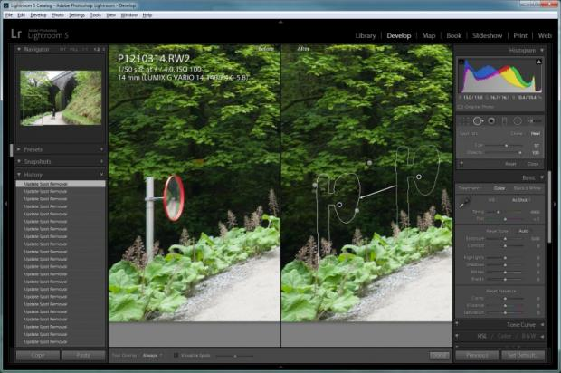 Lightroom 5 - Advanced Healing Brush 2