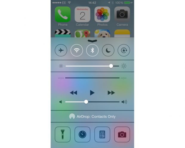 Apple iOS 7 Control Centre