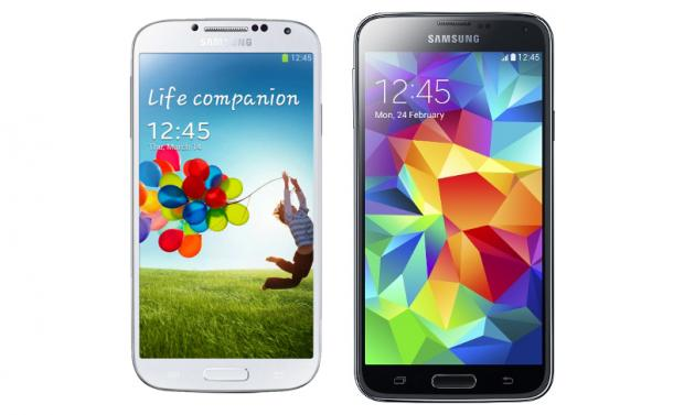 Galaxy S4 vs S5 size comparison