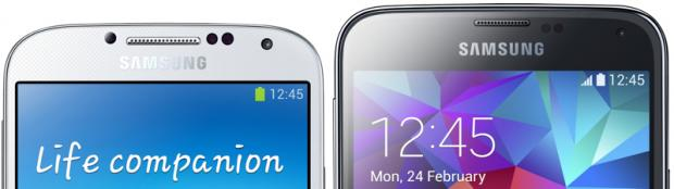 Samsung Galaxy S5 vs Galaxy S4 screen