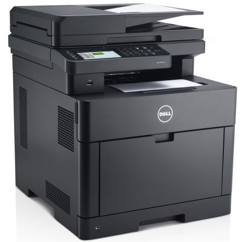 Front left view of the Dell H825cdw