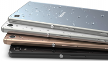 Sony Xperia Z3+ colour range