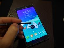 Samsung Galaxy Note 4 with stylus