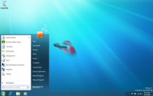 Windows 7 Desktop with open Start Menu