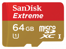 SanDisk Extreme 64GB UHS-I Class 10 MicroSDXC Card