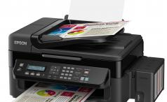 Epson EcoTank L555 front three-quarters